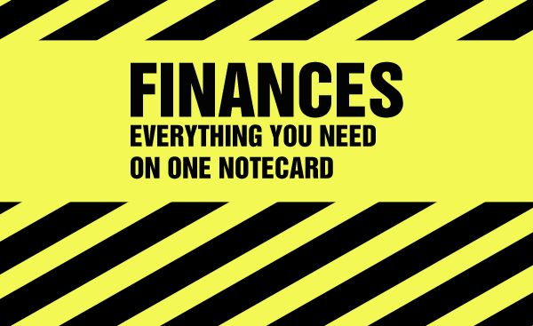 Everything You Need on One Notecard