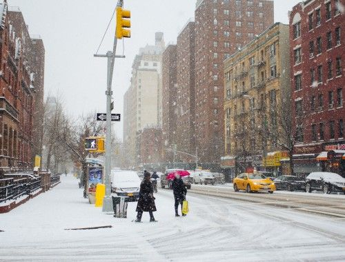 Snowy New York City