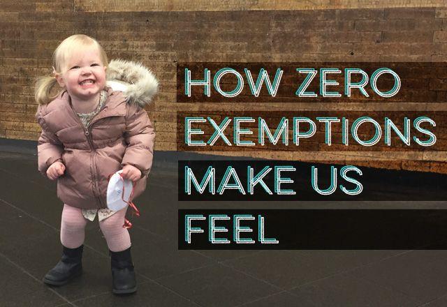 How Zero Exemptions Make Us Feel