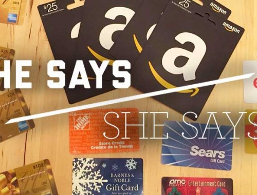 He Says/She Says: Gift Cards
