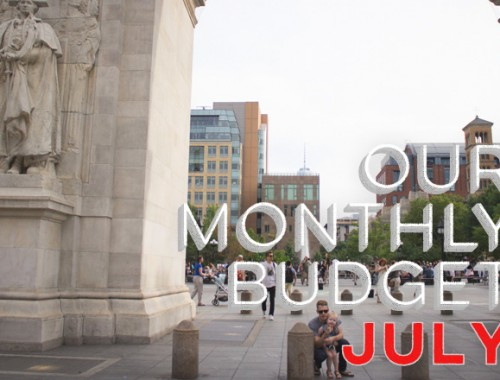 Our Monthly Budget: July