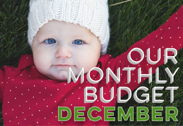 Our Monthly Budget: December