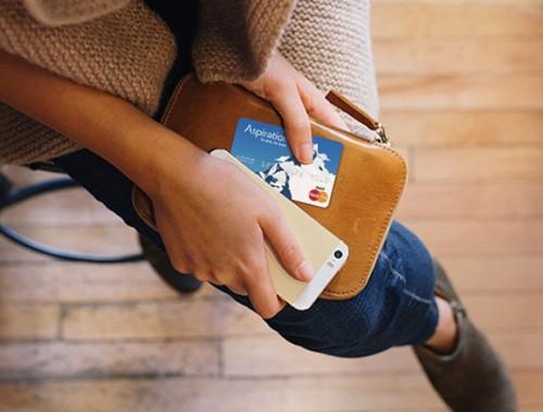 Aspiration debit card